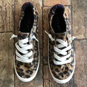 Madden Girl Leopard Print Sneakers